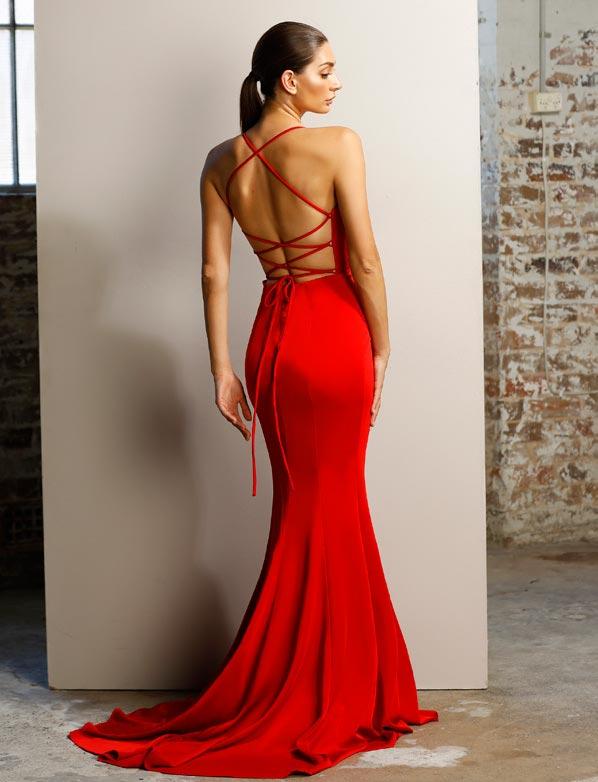 cf1cfc7810f JX1101 Red - School Formal Dresses Sunshine Coast
